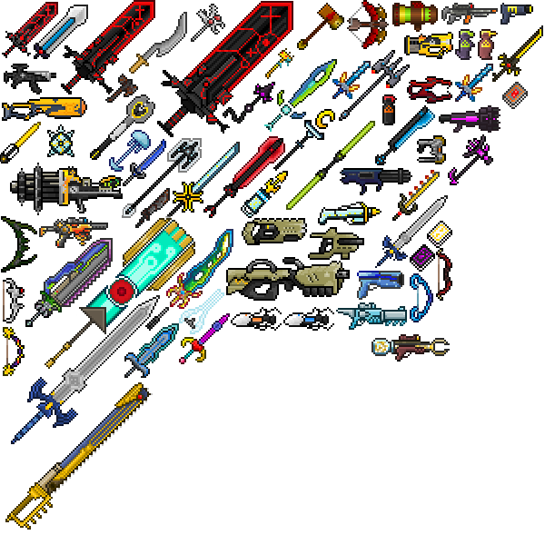 Terraria swords png. Image all weapons wiki