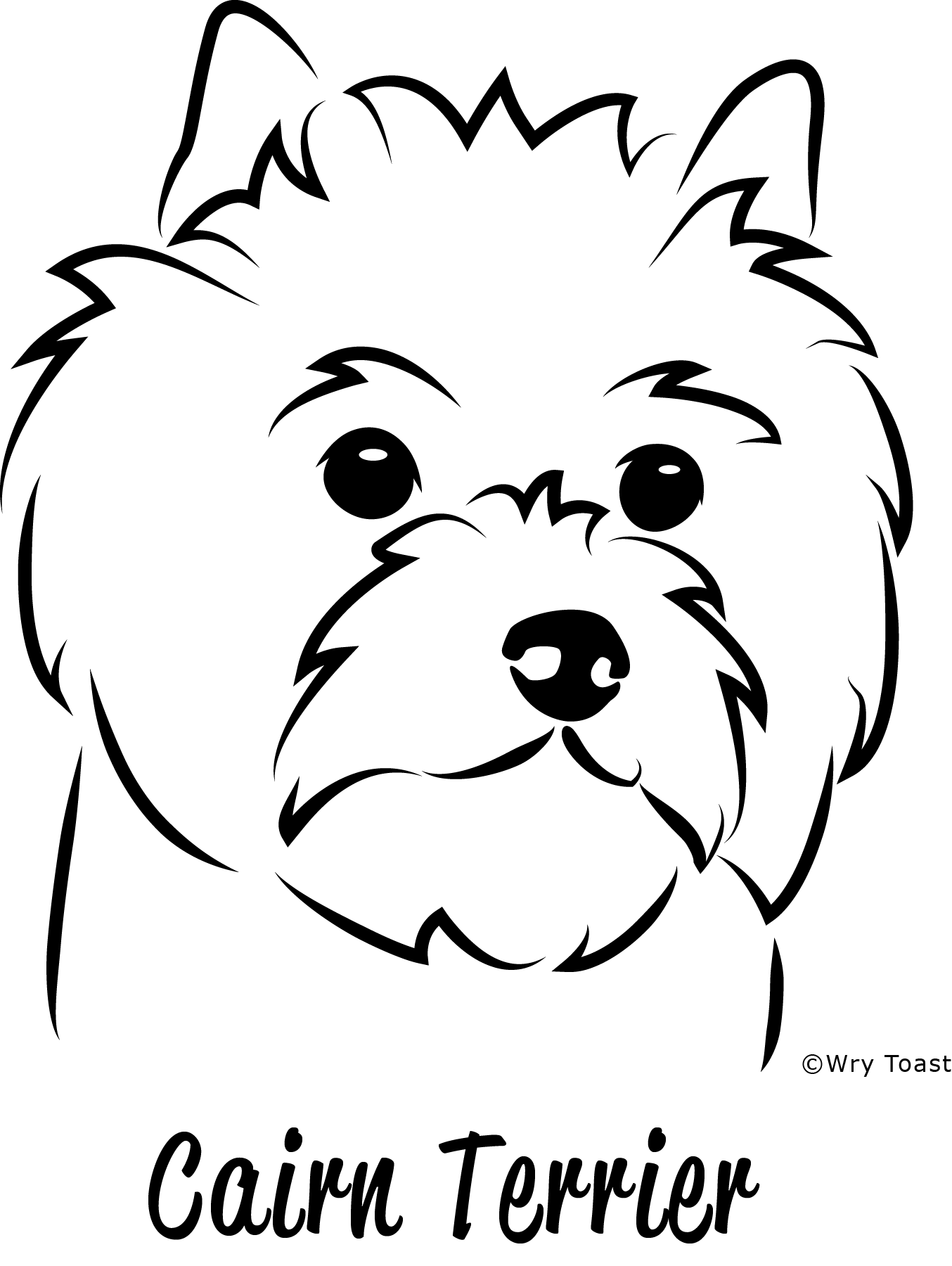Terrier drawing hair