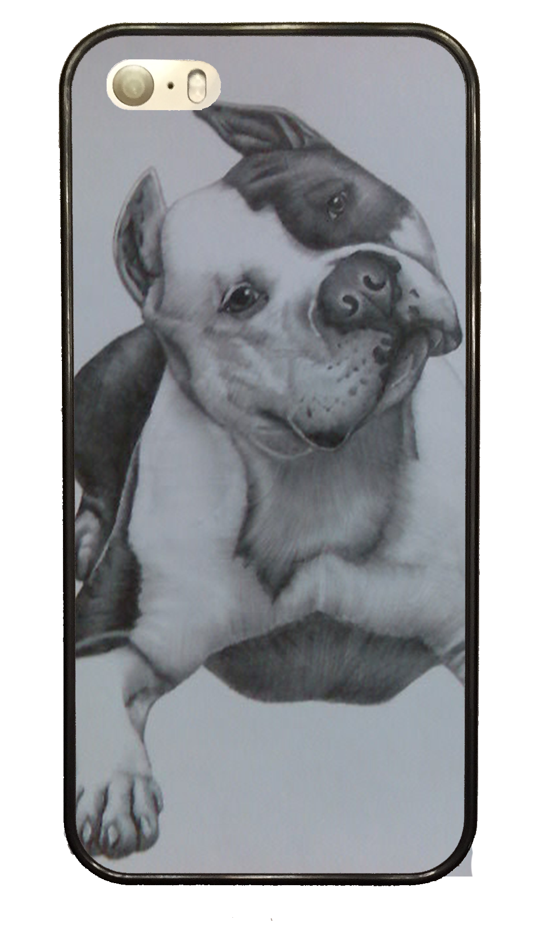 Terrier drawing ink. Pit bull sketch phone