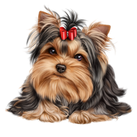 Chien chiot dog animal. Yorkie clipart svg library stock