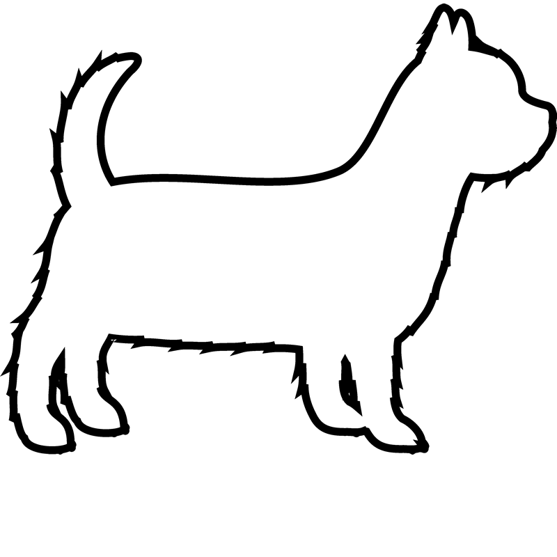 Terrier drawing tonal. Yorkshire rubber stamp outline