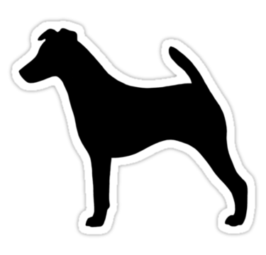Terrier drawing smooth fox. Silhouette s sticker by