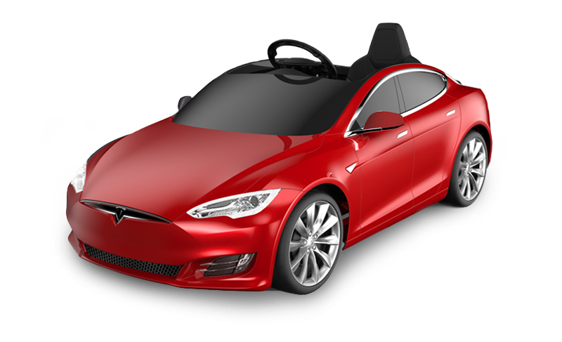 tesla transparent red