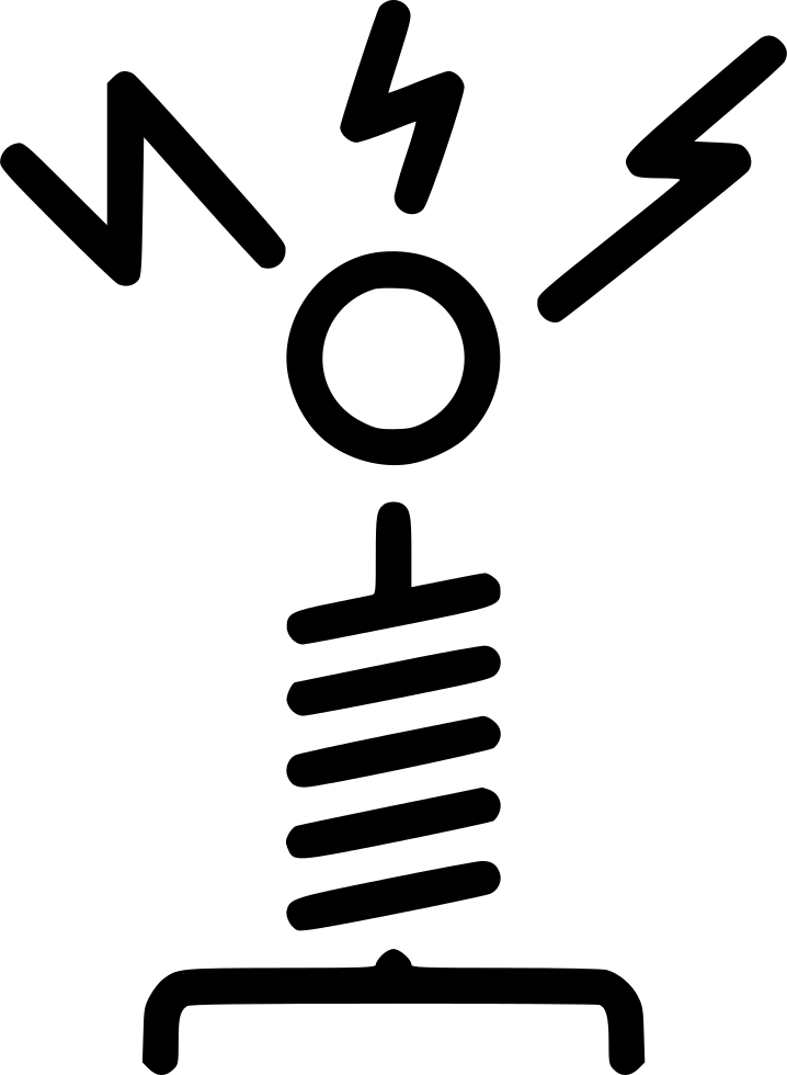 Tesla vector coil. Svg png icon free