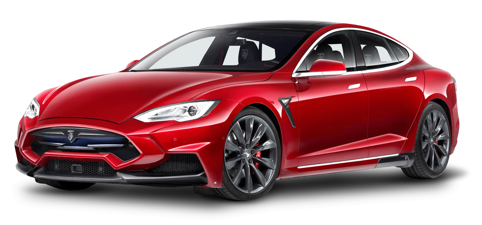 Tesla transparent new. Model s red png