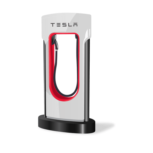 Supercharger network car trends. Tesla vector image free stock