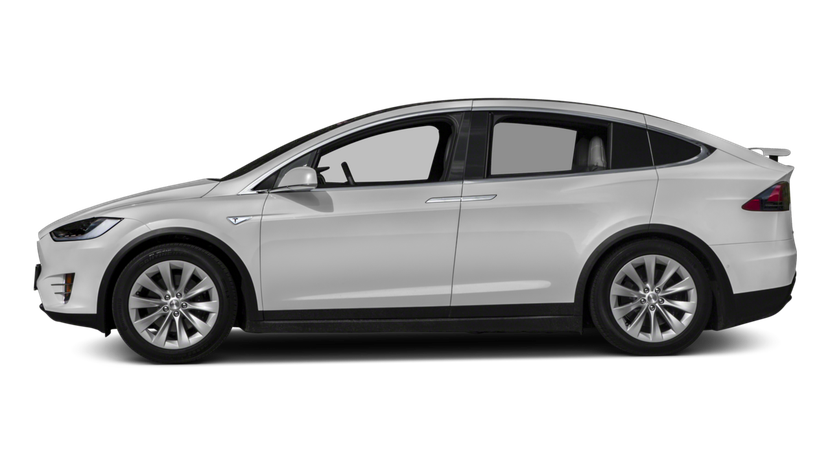 Tesla transparent 90d white. Model x awd