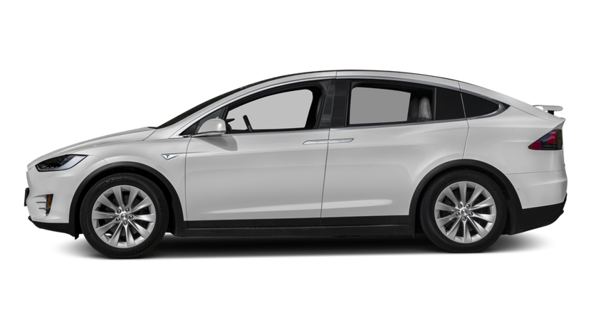 Tesla transparent 90d white. Model x d