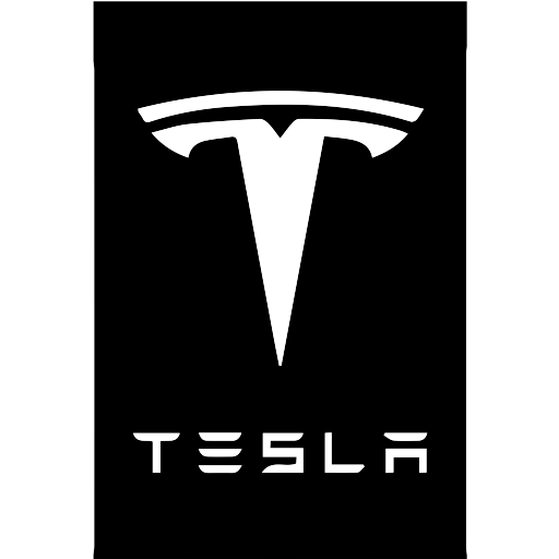 Tesla vector stencil. Power energy icon with