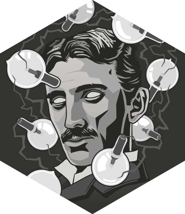 Scientist portraits by gremz. Tesla vector png freeuse library