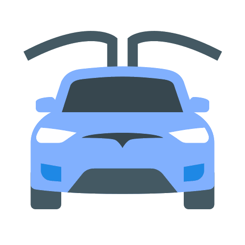 X car icons . Tesla vector silhouette png download