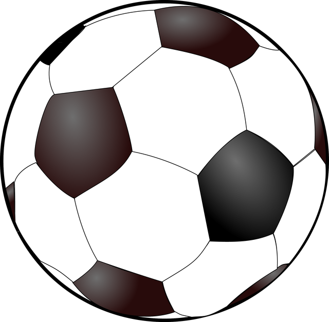 Tessellation drawing football. Use this free soccer