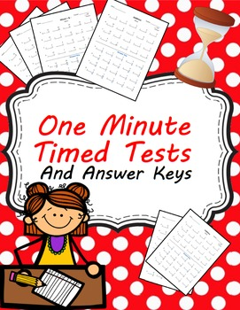 Test clipart timed test. One minute tests for