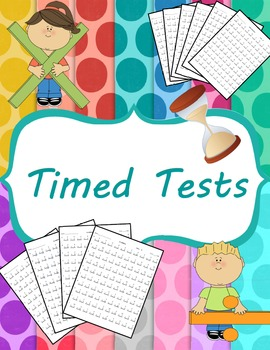 Test clipart timed test. Division tests and mixed