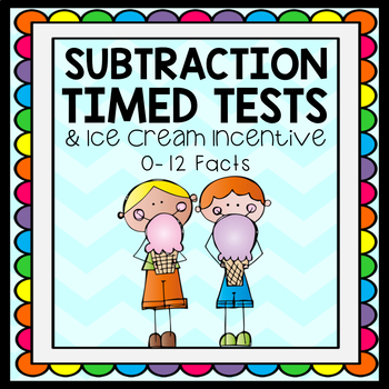 Test clipart timed test. Subtraction tests ice cream