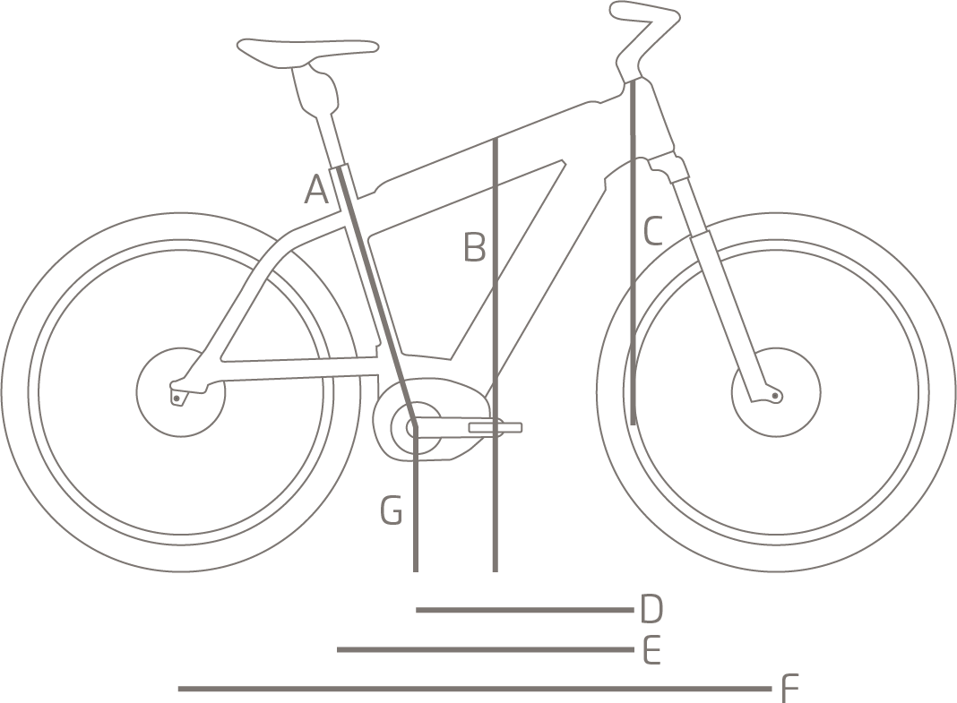Test drawing bicycle. Supercharger gt touring e