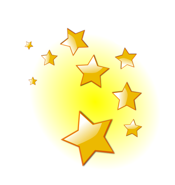 Stars clip art at. Gold clipart shooting star picture transparent stock