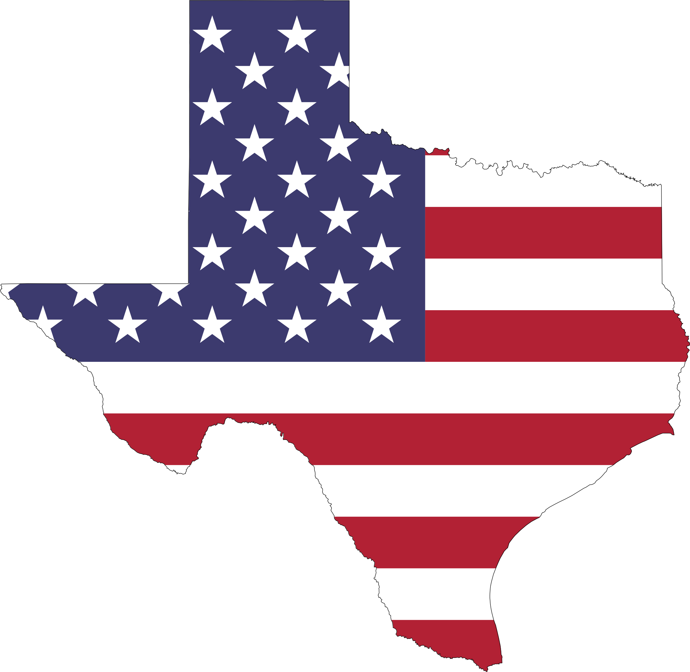 Map of texas png
