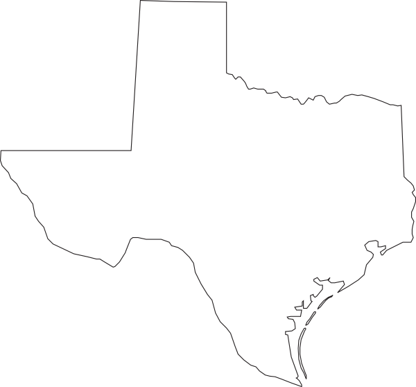 texas state outline png