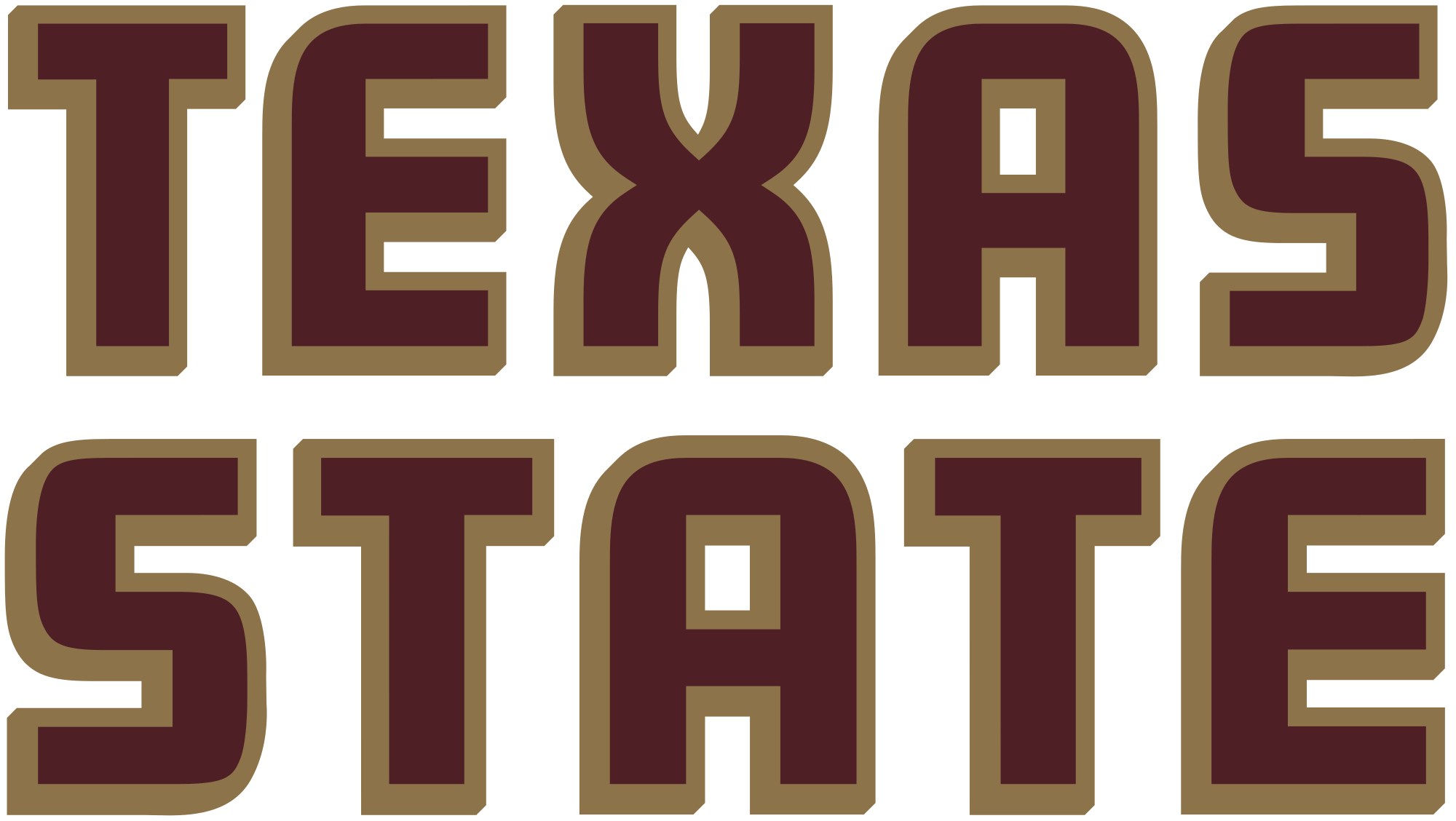 Texas state logo png. File athletics wordmark svg