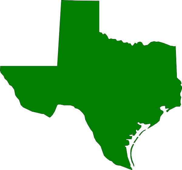 Texas state outline png. Green clip art at
