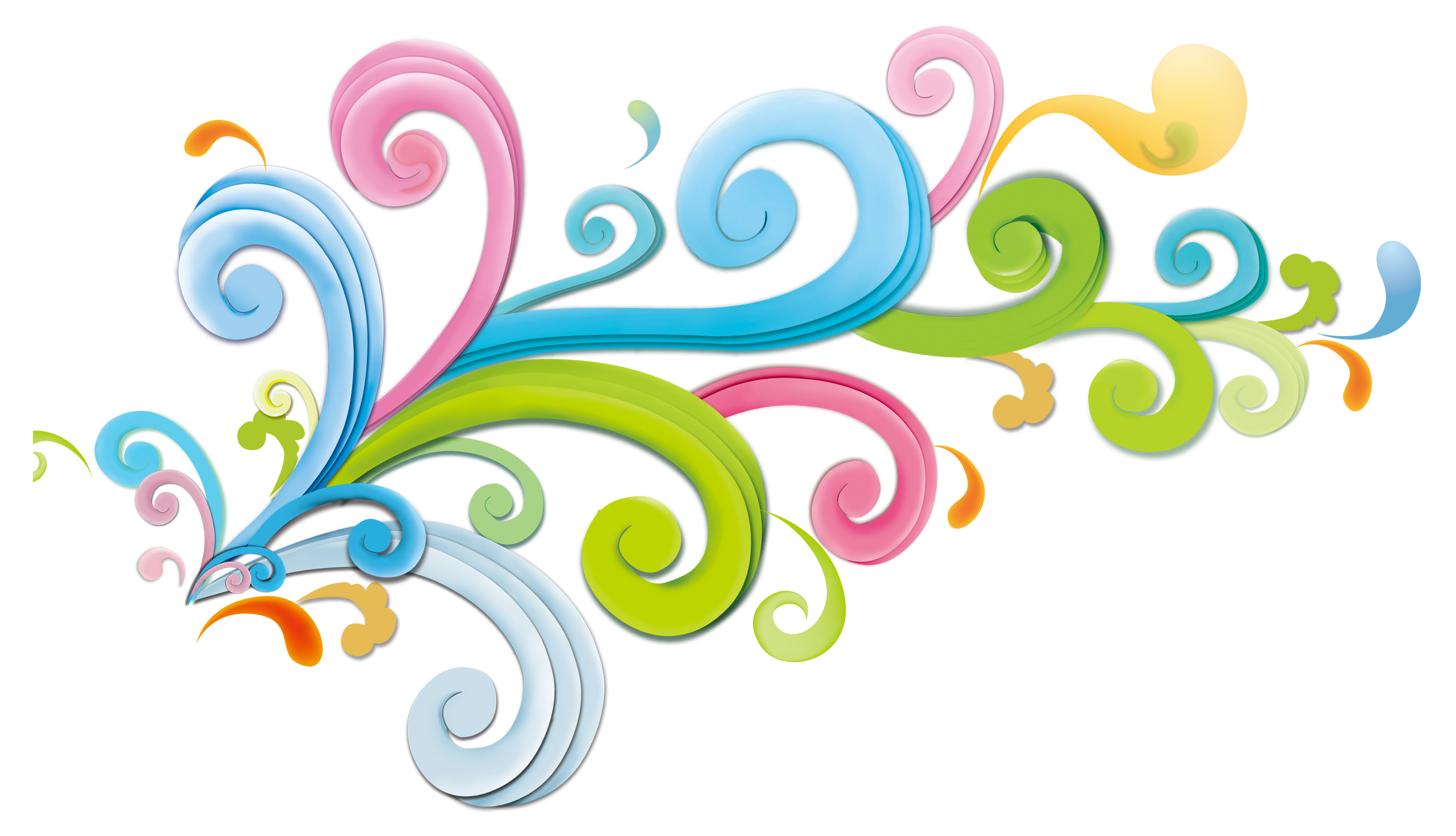 Creative backgrounds png. Color colorful curly decoration
