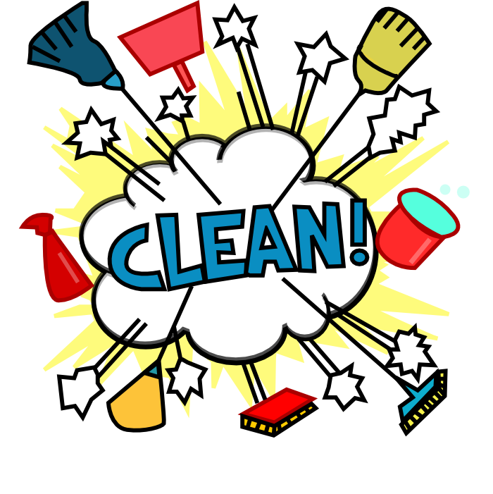 Cleaning drawing house. Lady cartoon cliparts co