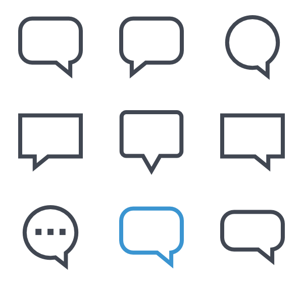 Text message bubble png. Icon packs vector