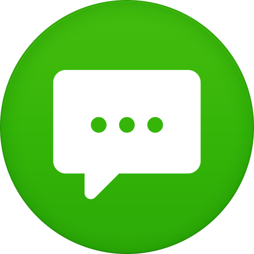 Text message png. Messages icon circle iconset
