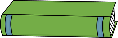 Book spine png. Green clip art image