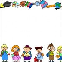 Texting clipart border. School theme borders for