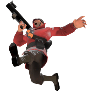 Tf2 transparent solider. Image soldier jumping png