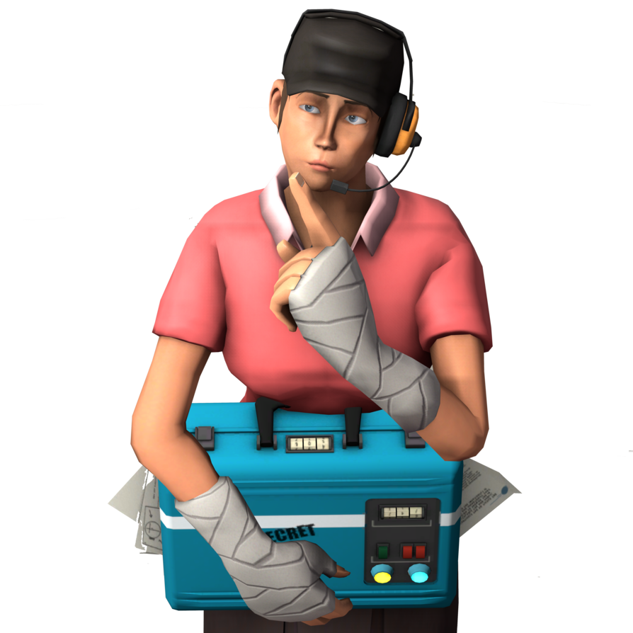Transparent tf2. Femscout team fortress by