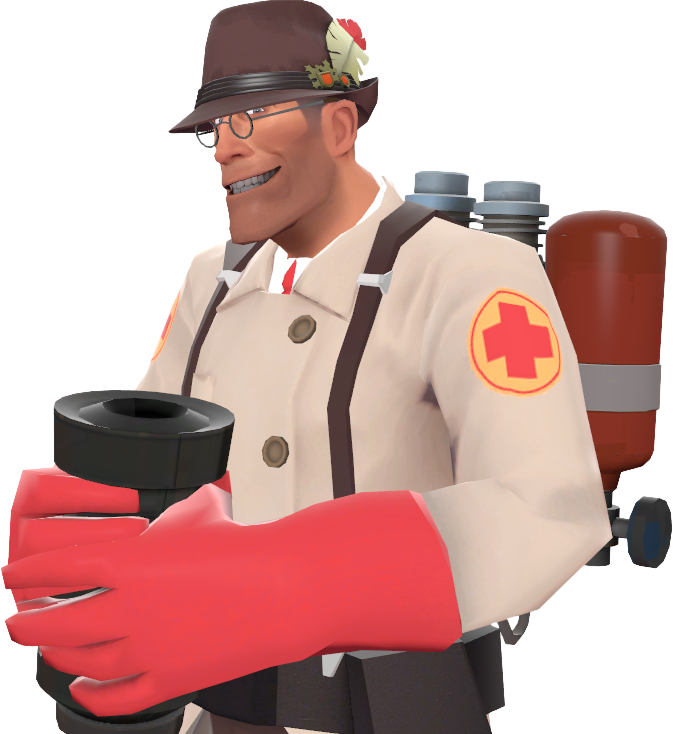 Tf2 Blu Medic Transparent & PNG Clipart Free Download - YA-webdesign