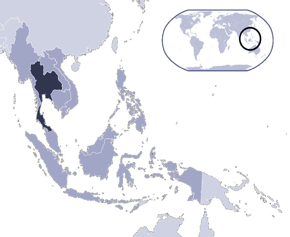 Thailand map png. Where is located mapsof