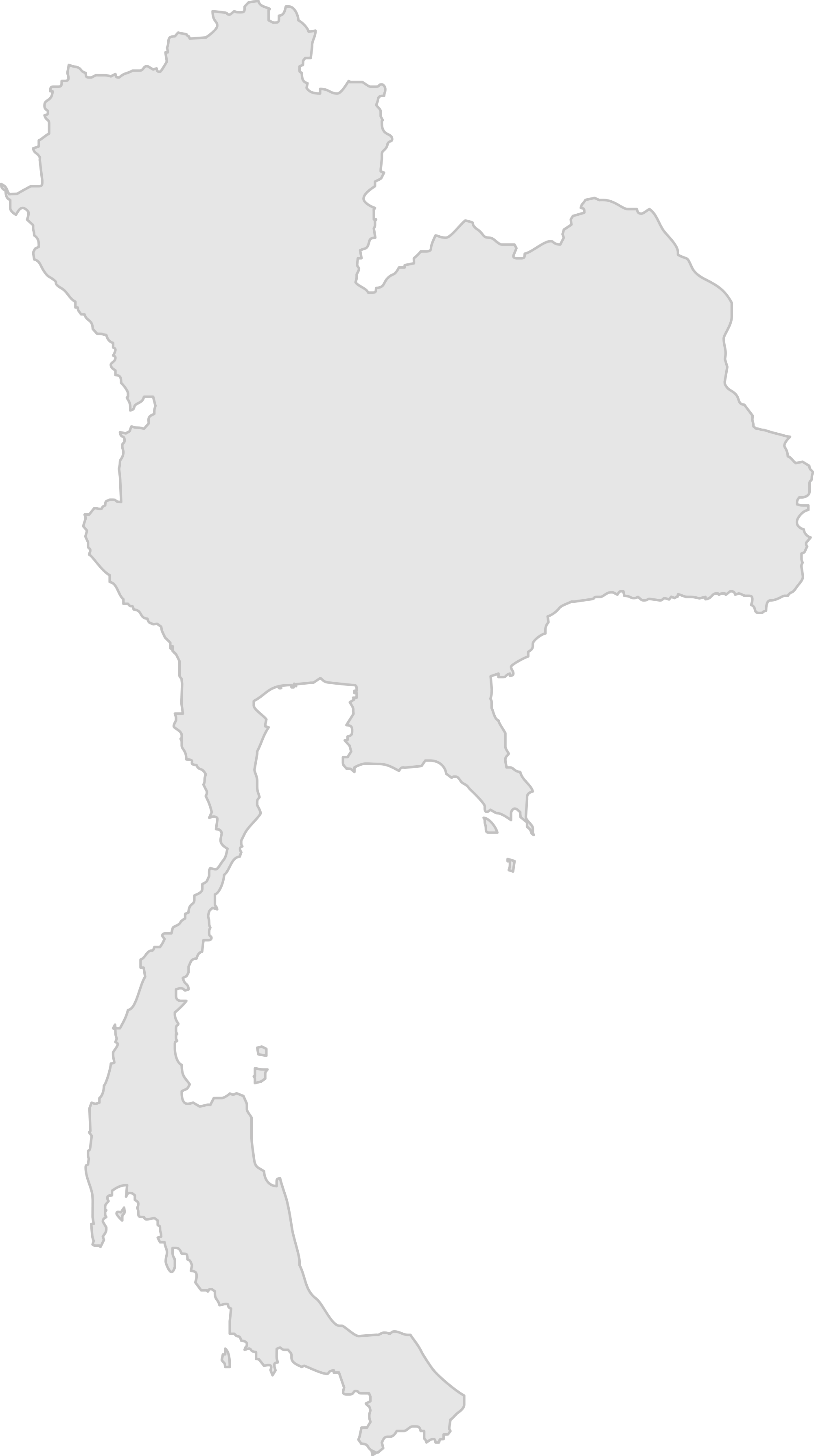 Thailand map png. File of blank svg