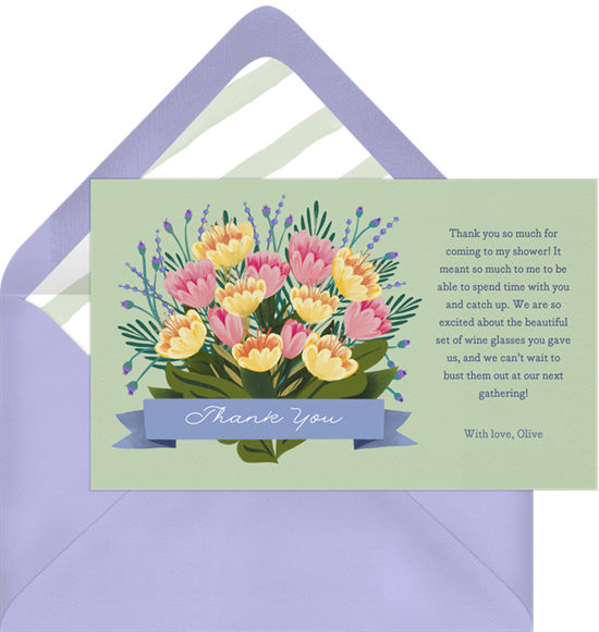 Thank you bouquet png. Brimming notes in green