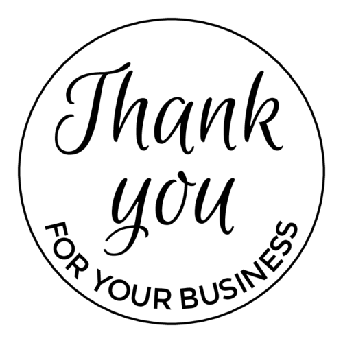 Thank you for your business png. Circle label templates ol