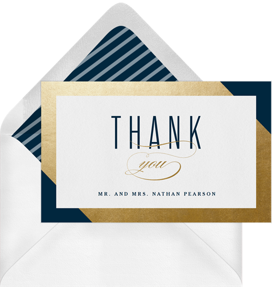 Thank you note png. Gold foil frame notes