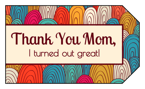 Thank you printable labels png. Mother s day label