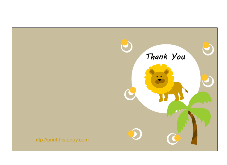 Thank you printable labels png. Free jungle baby shower