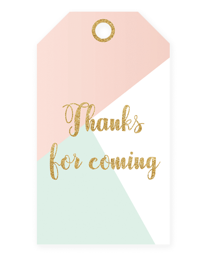 Thank you printable labels png. Baby shower tags for