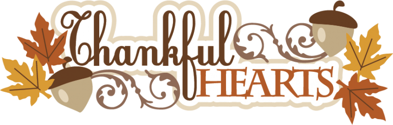 Happy thanksgiving clipart thankful. Autumn or fall hearts