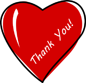 Thanks clipart heart. Thank you images panda