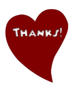 Thanks clipart heart. Thank you for your