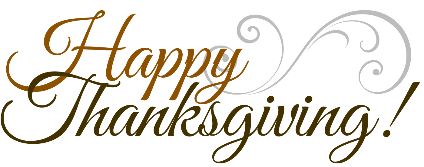 happy thanksgiving png typography