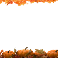 Thanksgiving borders png. Top pumpkin border clipart