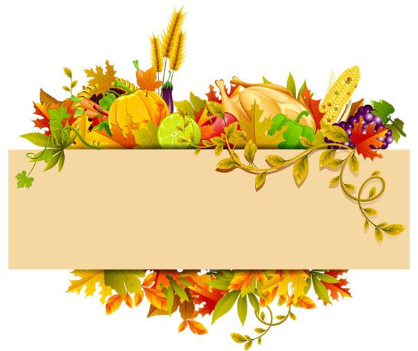 Thanksgiving border png. Decor clipart gallery yopriceville