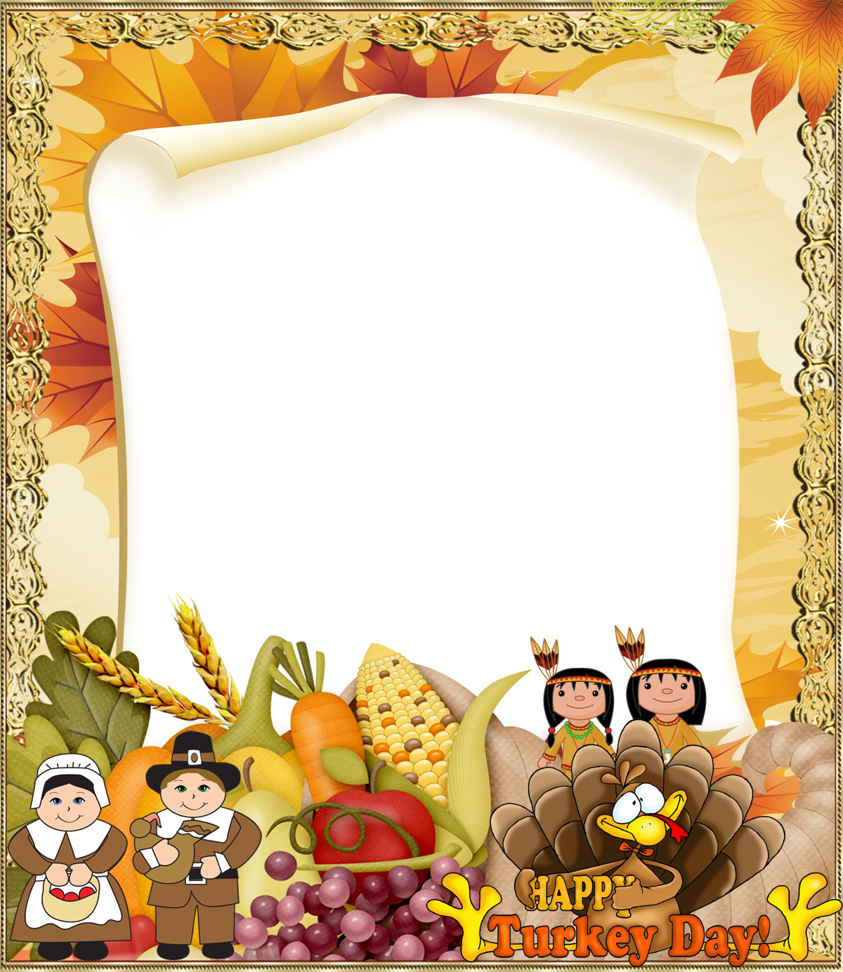 Thanksgiving borders png. Photo frame gallery yopriceville