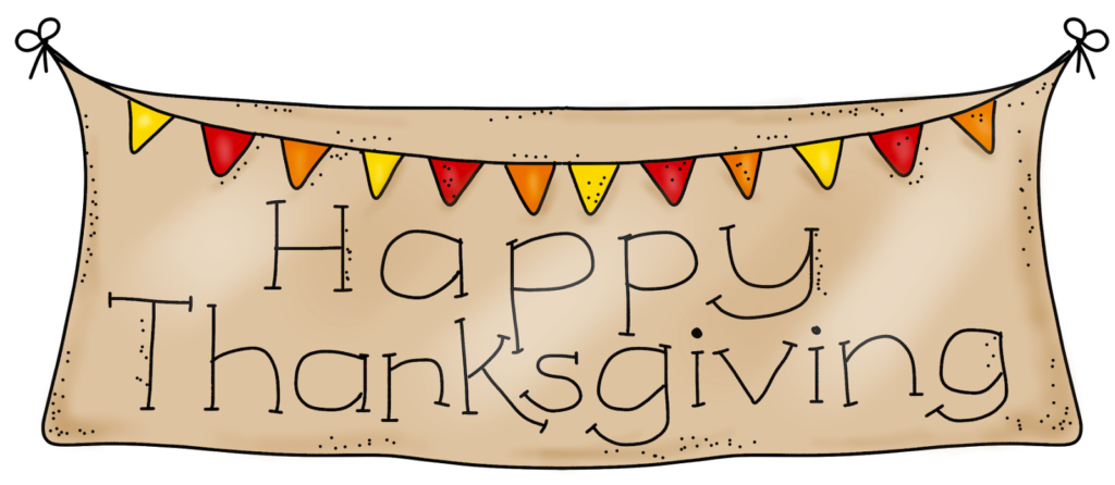 Thanksgiving clipart banner. Happy holidays pinterest
